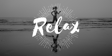 chill: Ralex Calm Chill Happiness Resting Vacation Concept Stock Photo