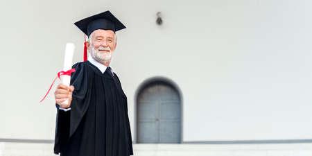 academic achievement: Academic Achievement Certificate Degree Senior Concept