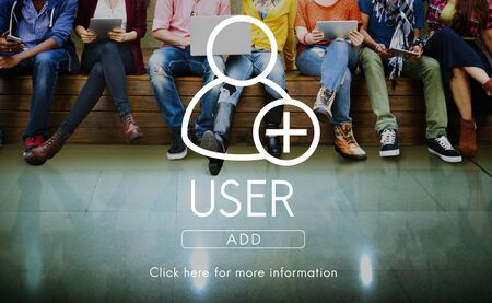 internet school: Add Friends Community Connection Socialize Concept