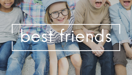 friendliness: Best Friends Friendship Partnership Relationship Concept Foto de archivo