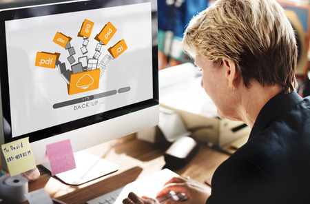 Cloud Networking Computing Back Up Concept Stock Photo