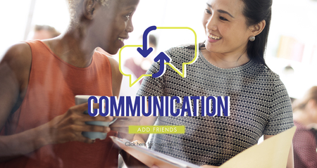 Communication concept with background