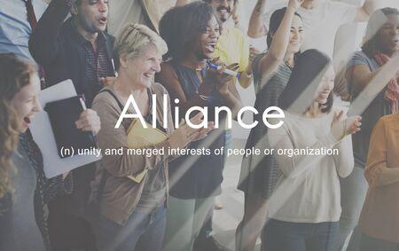 Alliance Team Combine Corporate Partnership Concept