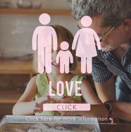 the grand daughter: Family Care Genealogy Love Related Home Concept Stock Photo