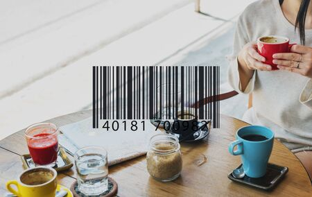 barcode scan: Barcode Scan Shopping Store Merchandise Retail Concept