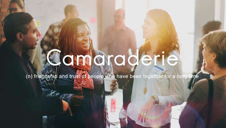 Camaraderie Carefree Chill Friends Togetherness Concept Stock Photo