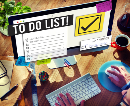 prioritize: To Do List Time Management Reminder Prioritize Concept Stock Photo