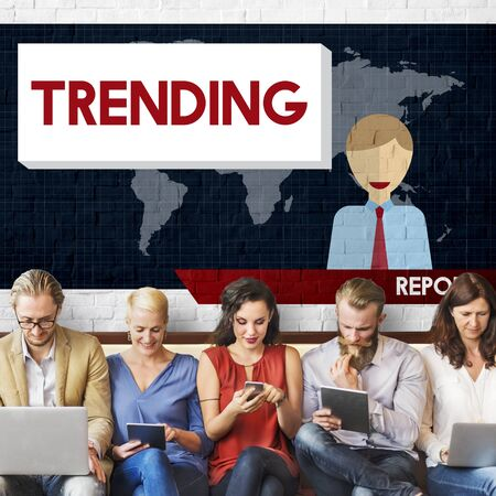 breaking news: Update Trending Breaking News Report Information Concept Stock Photo