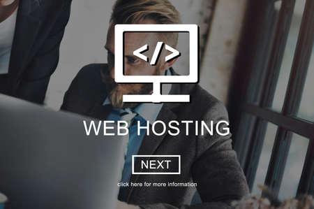 Web Hosting Server Website User System Concept