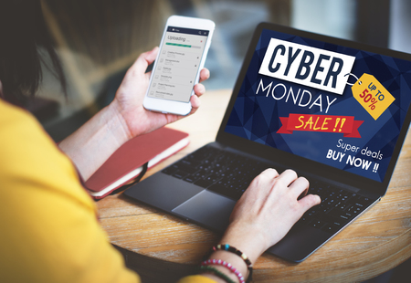 Кибер понедельник Распродажа Скидка Концепция Распродажа