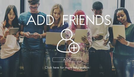 Add Friends Community Connection Socialize Concept