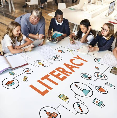 instruction sheet: Lesson Learning Literacy Knowledge Education Concept Stock Photo
