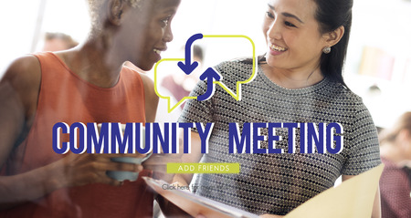 Community meeting with background