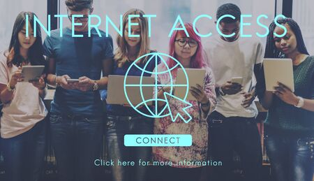 url: Internet Access URL Browsing Connection Concept