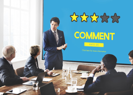 qa: Customre Feedback Comment Vote Review Results Concept