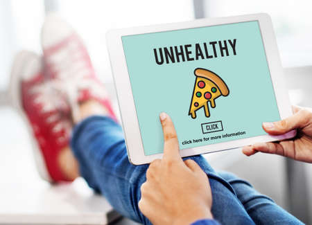 what to eat: Fast food Unhealthy Snacks Calories Fat Concept Stock Photo