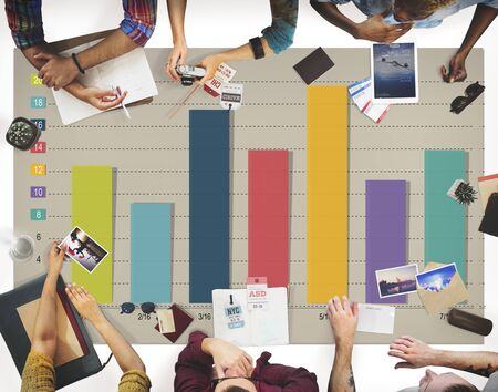 forecasting: Graph Growth Forecasting Strategy Team Concept Stock Photo