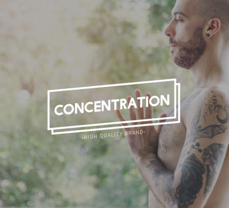 attentiveness: Concentration Concentrate Focus Attention Interest Concept