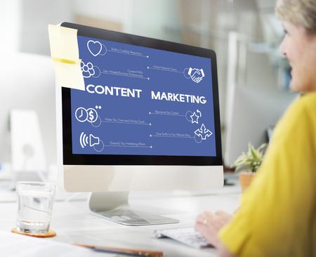 Content marketing concept Stock Photo