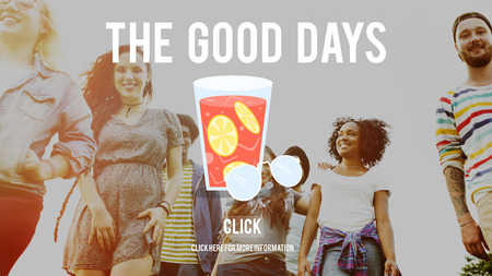 Good times concept with background
