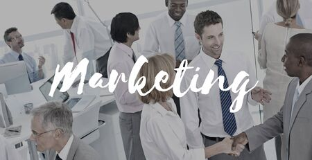 business marketing: Marketing Advertising Business Commercial Concept