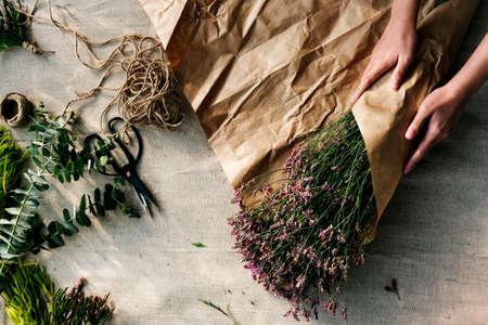 recreational pursuit: Flower Decorating Florsit Hobby Recreational Pursuit Concept Stock Photo