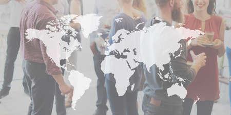 Businees World Worldwide Continent Marketing Concept Stock Photo