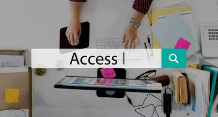 availability: Access Obtainable Accessible Availability Unlock Concept Stock Photo