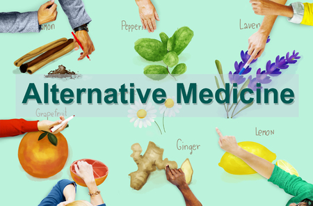 complementary therapies: Alternative Medicine Health Herb Therapy Concept