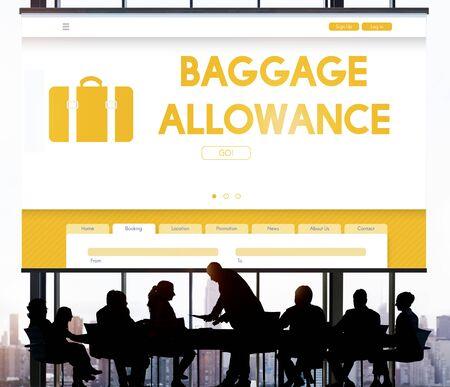 passanger: Baggage Luggage Allowance Passanger Plane Concept