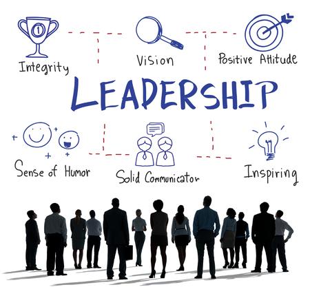 리더십 성공 기술 그래픽 개념 그리기