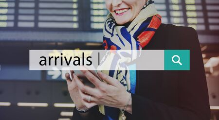 Airport Arrivals Boarding Check In Transportation Concept