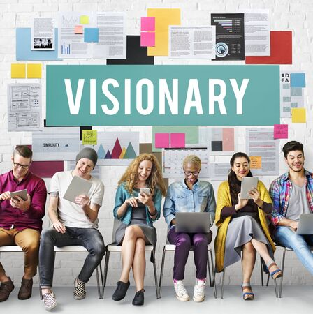 Las aspiraciones visionarias Concepto Creatividad Imaginación Foto de archivo