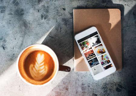 caffeine: Coffee Caffeine Book Cafe Relax Refreshment Concept