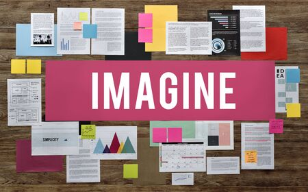 Imagine Creative Expect Fresh Idea Imagination Concept