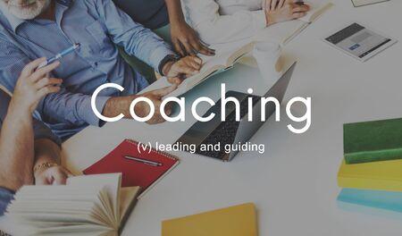 the elderly tutor: Coaching Educating Instructor Management Concept