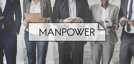 manpower: Manpower People  Company Worker Employment Concept