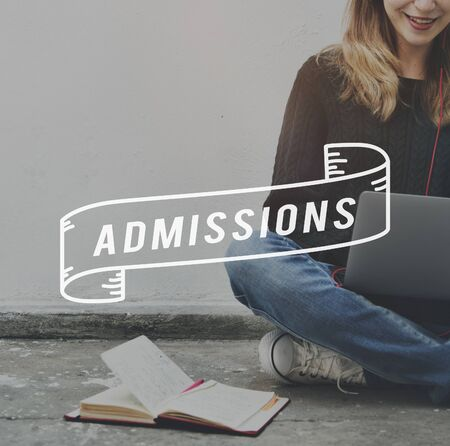 admissions: Admissions Entrance Examination University College Concept Stock Photo