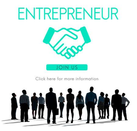 rear view: Entrepreneur Business Venture Handshake Graphic