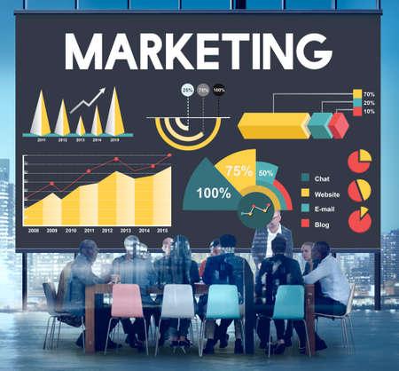 percentage: Marketing Percentage Business Chart Concept