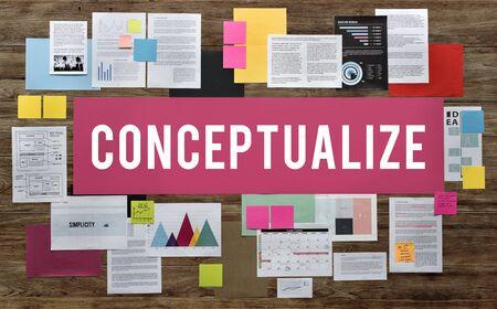 notion: Concepttualize Creative Ideas Image Intention Concept Stock Photo