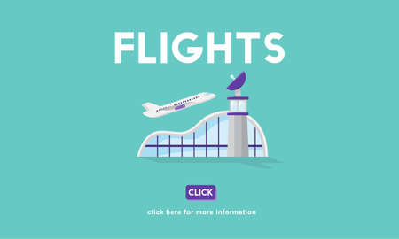 aircraft take off: Flights Business Trip Travel Information Concept