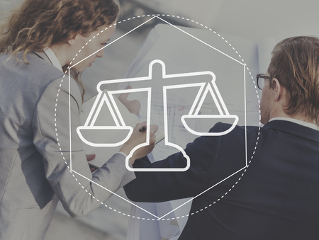 assessment system: Justice Law Order Legal Graphic Concept Stock Photo