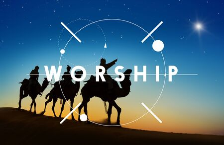 Worship Religion Belief Faith Graphic Concept