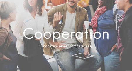 Acuerdo de Cooperación Alliance Company Concepto Unión Foto de archivo