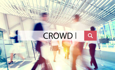 unstructured: Crowd Group of People Mob Unstructured Crowdsourcing Concept Stock Photo