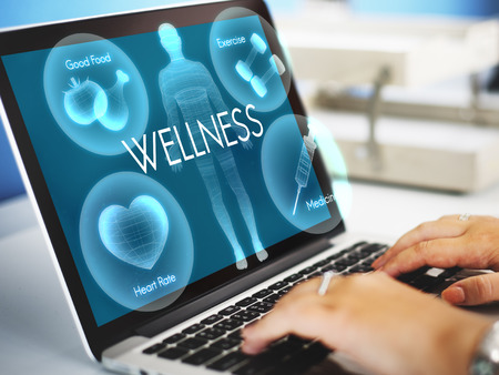 finding a cure: Health Wellbeing Wellness Vitality Healthcare Concept Stock Photo