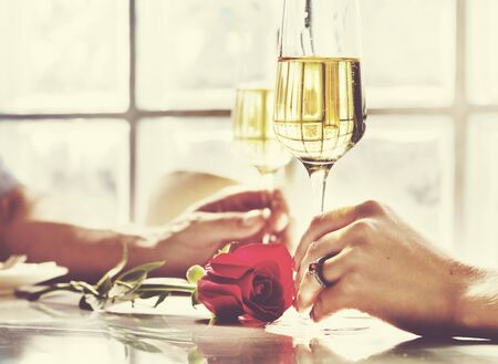 occasion: Couple Celebration Drinks Champagne Love Concept