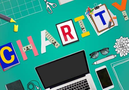 welfare: Charity Support Help Welfare Donation Concept