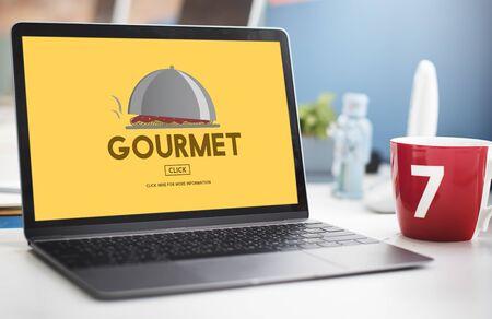manjar: La delicadeza gourmet comida de la cena Concepto comida sana